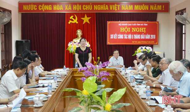 Nguyên Chánh Thanh tra tỉnh giữ chức Chủ tịch Hội Người cao tuổi Hà Tĩnh