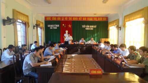 UBND tỉnh Hà Tĩnh tiếp công dân định kỳ tháng 5 năm 2013