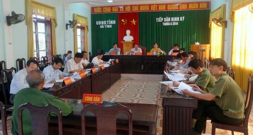Ủy ban nhân dân tỉnh tiếp công dân định kỳ tháng 4 năm 2014