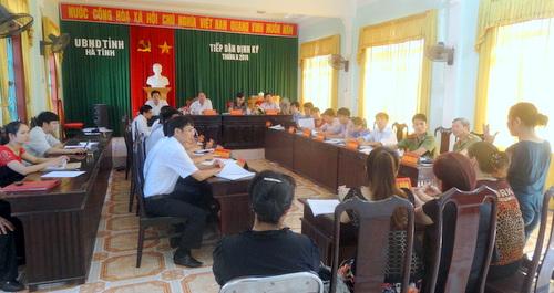 Ủy ban nhân dân tỉnh tiếp công dân định kỳ tháng 6 năm 2014
