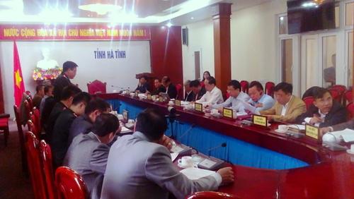 UBND tỉnh Hà Tĩnh và làm việc với Tổ công tác Thanh tra Chính phủ