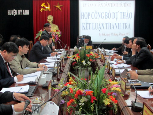 Ủy ban nhân dân tỉnh công bố Dự thảo kết luận thanh tra việc bồi thường, hỗ trợ, giải phóng mặt bằng Dự án Trung tâm Thương mại đa ngành nghề Lợi Châu (giai đoạn 3) tại xã Kỳ Phương và Dự án Khu hạ tầng công nghiệp Phú Vinh.