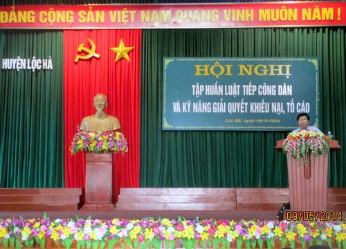 Ủy ban nhân dân huyện Lộc Hà phối hợp với Thanh tra tỉnh triển khai thành công Hội nghị tập huấn Luật Tiếp công dân và Kỹ năng giải quyết khiếu nại, tố cáo.