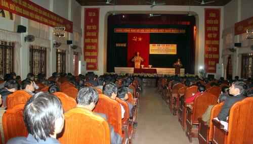 Ủy ban nhân dân huyện Can Lộc phối hợp với Thanh tra tỉnh triển khai thành công Hội nghị tập huấn Luật Tiếp công dân và quy trình giải quyết khiếu nại, quy trình giải quyết tố cáo theo Thông tư 06 và Thông tư 07 của Thanh tra Chính phủ .