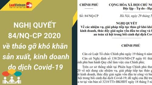 Đôn đốc triển khai một số nhiệm vụ, giải pháp được giao tại Nghị quyết số 84/NQ-CP của Chính phủ