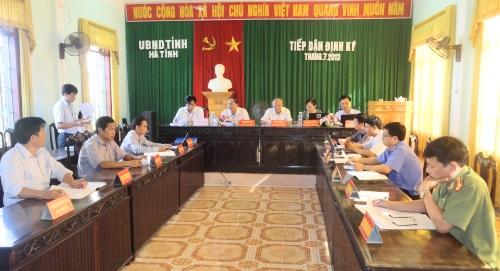 Thông báo tiếp dân định kỳ của UBND tỉnh tháng 7 năm 2013