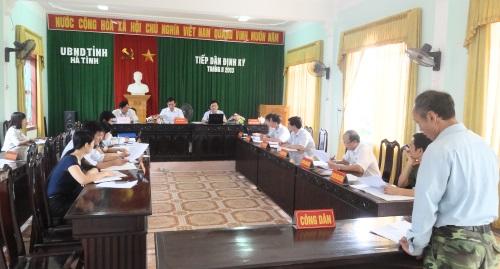 Thông báo tiếp dân định kỳ của UBND tỉnh tháng 8 năm 2013