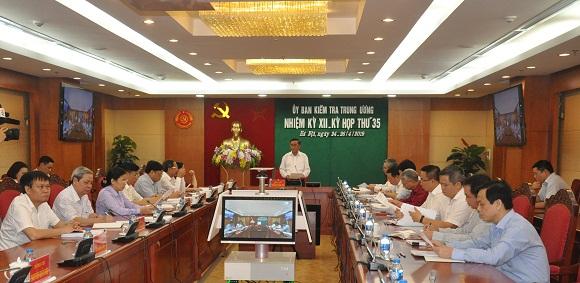 Ủy ban kiểm tra Trung ương xem xét, kỷ luật một số tổ chức, cá nhân