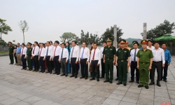 Lãnh đạo tỉnh Hà Tĩnh dâng hương tưởng nhớ cố Tổng Bí thư Hà Huy Tập